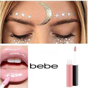 💄Bebe Lip Plumper Lipgloss & Star Facial Stickers